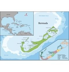 The bermudas or somers isles vector