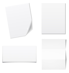 White sheets of paper - set vector image vector image