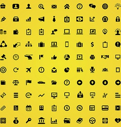 100 Business icons vector image vector image