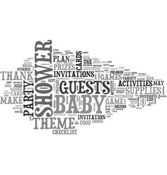 baby shower supplies text word cloud concept vector image