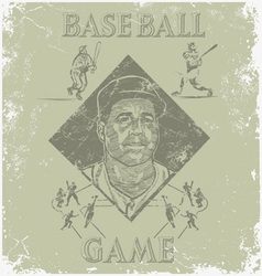 baseball coach vector image