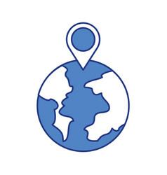 globe world pointer map location web vector image vector image