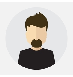 male face avatar logo template pictogram vector image