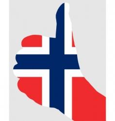Norwegian finger signal vector image