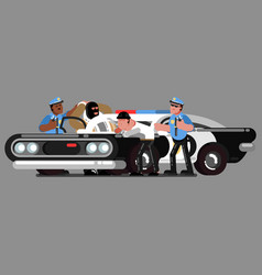 police sketch officer vector image vector image