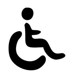 wheelchair public icon image vector image