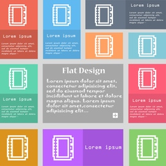 Book icon sign Set of multicolored buttons with vector image vector image