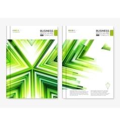 Modern Abstract Brochure design set vector image