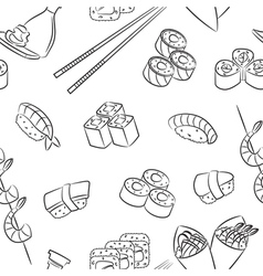 Sushi Pattern vector image vector image