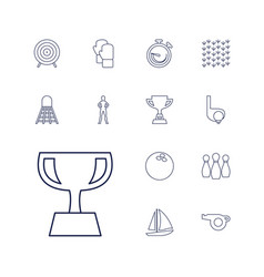 13 competition icons vector