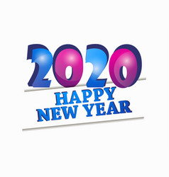 2020 happy new year celebration banner isolated vector image