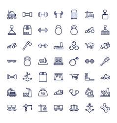 49 heavy icons vector