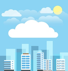Abstract city buildings set Flat design presentati vector image