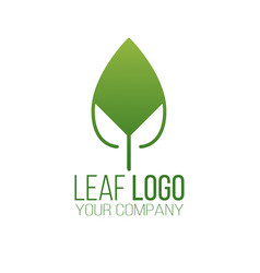 abstract green leaf logo icon design landscape vector image