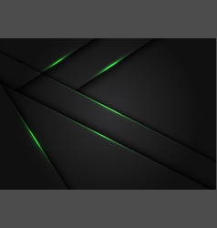 Abstract green light dark grey metallic overlap vector