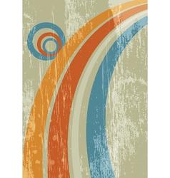 abstract sun rainbow grunge background vector image