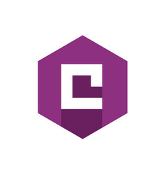 alphabet letter c initial letter c icon vector image