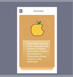 apple mobile vertical banner design design vector image