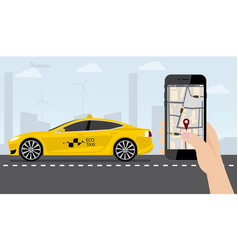 application for ordering a taxi vector image