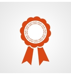 Award ribbon icon Flat design style vector image vector image
