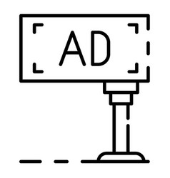 billboard icon outline style vector image
