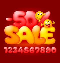 bright advertisement for sale event vector image