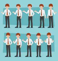 businessman01-0102 blue vector image