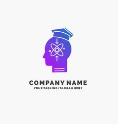Capability head human knowledge skill purple vector