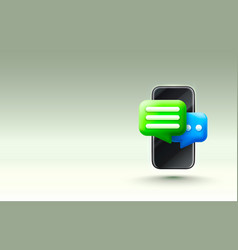 chat phone talk dialogue messenger or online vector image