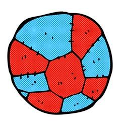 comic cartoon football vector image