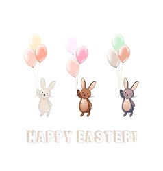 Cute bunny set vector