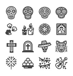 Day dead icon vector