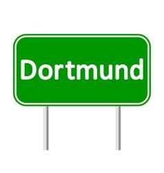 Dortmund road sign vector