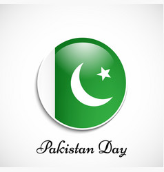 Elements of pakistan day vector