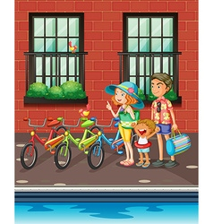 Family going on the trip vector image