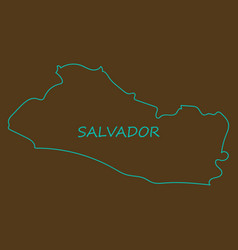 Flag of the republic of el salvador overlaid vector