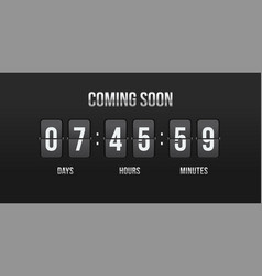 flip countdown coming soon counter vector image