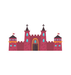 Gothic medieval castle two powerful red brick vector