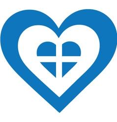 Greece Heart vector