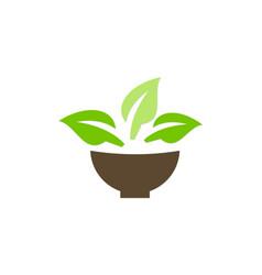 green leaf organic plant logo vector image