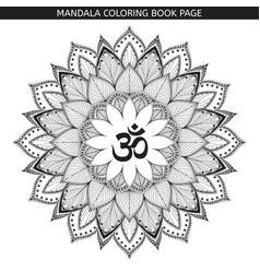 Henna tatoo mandalaom decorative symbol vector