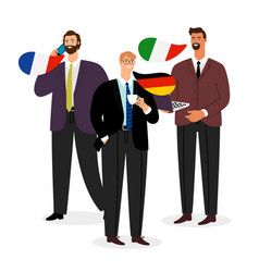 international male business team isolated vector image