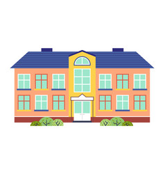 kindergarten or school building cartoon flat style vector image