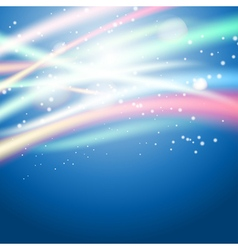 light on blue background vector image