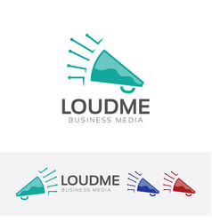 loud media logo template vector image