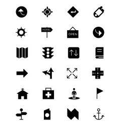 Map and Navigation Icons 5 vector image