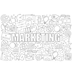 marketing background from line icon vector image