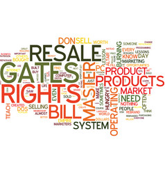 master resale rights lessons bill gates could vector image