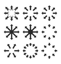 Maximize Arrows Flat Icon Set vector