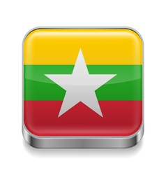 Metal icon of Myanmar vector